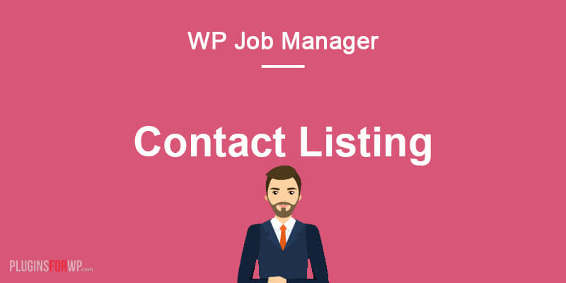 Contact Listing for WP Job Manager