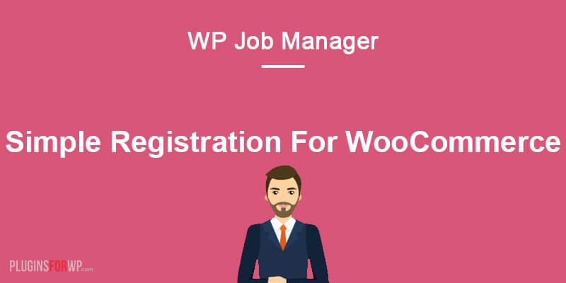 Simple Registration for WooCommerce