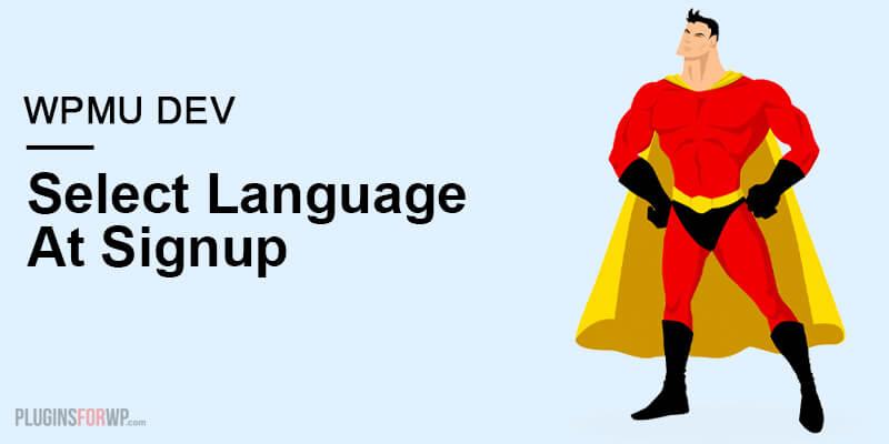 Select Language At Signup