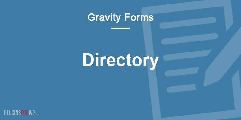 Gravity Forms Directory & Addons